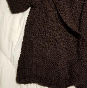 GAP Sweaters - Gap Eggplant purple  Elbow Chunky Cardigan
